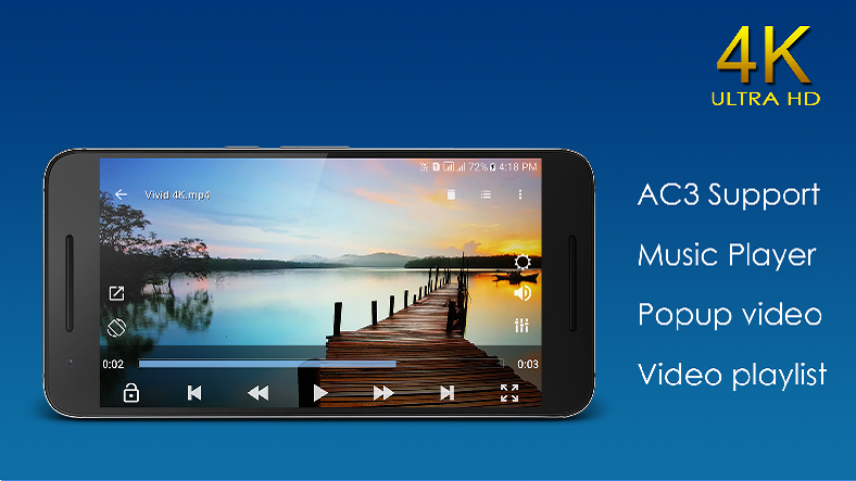 how to change default android video player
