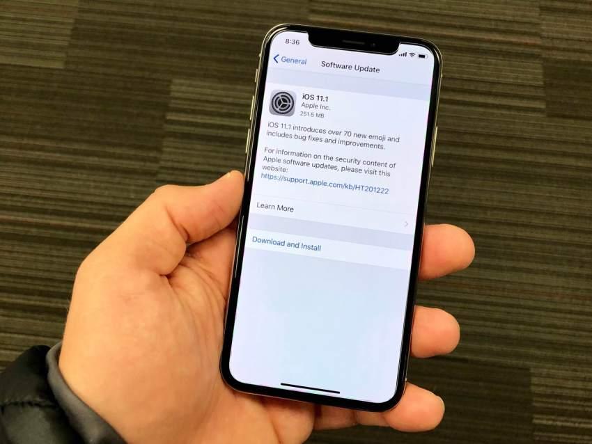 iphone X yazılım güncelleme gelmiyor