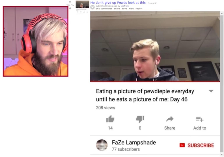 Thanh niên nuốt ảnh PewDieDie trong 100 ngày liên tiếp chỉ để nổi tiếng trên YouTube
