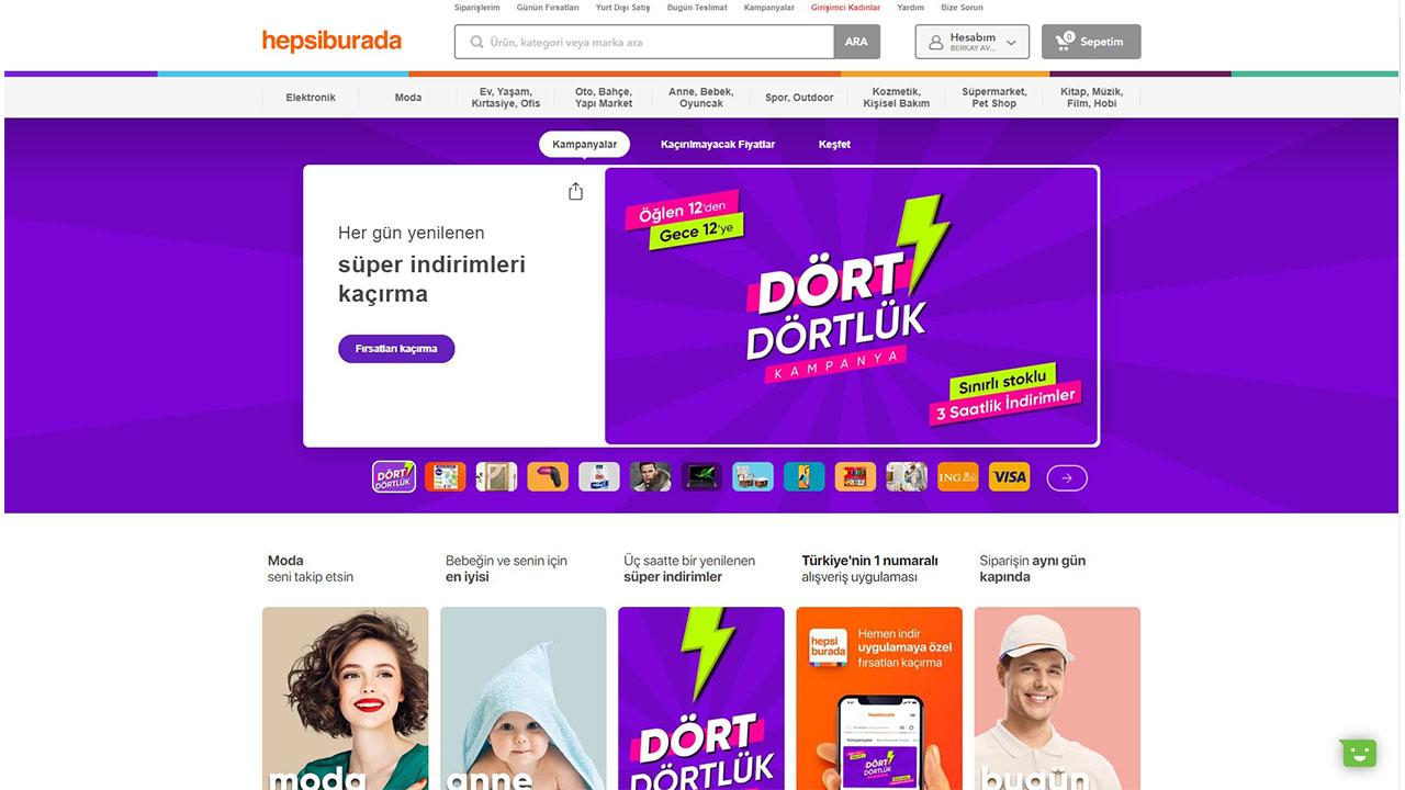 hepsiburada.com internet sitesi