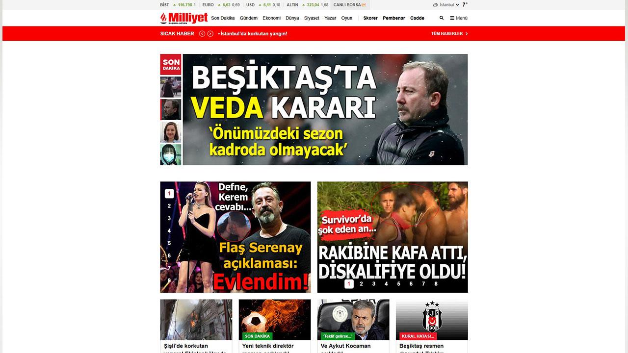 milliyet.com.tr internet sitesi