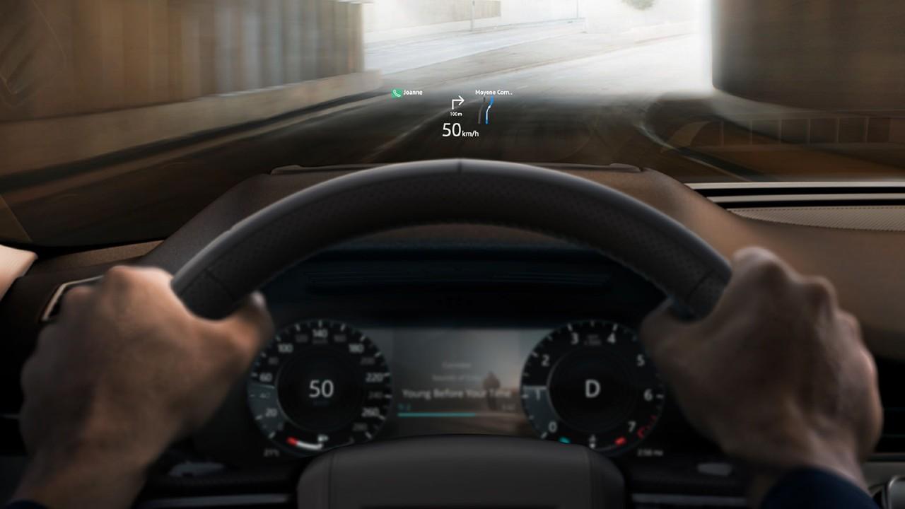 Range Rover Evoque Head-up display