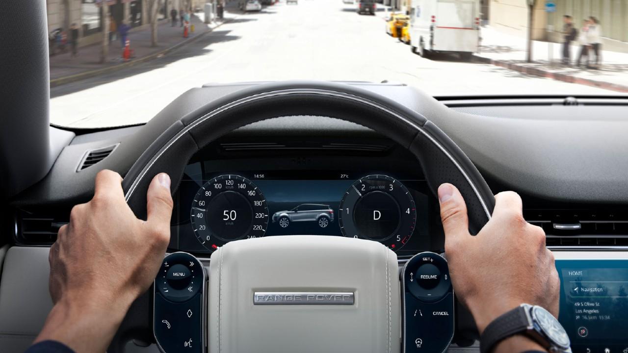 Range Rover Evoque interaktif sürücü ekranı