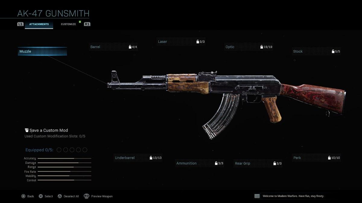 modern warfare ak-47