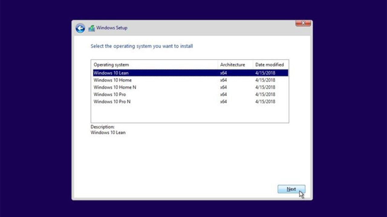 Windows 10 sürüm seçimi
