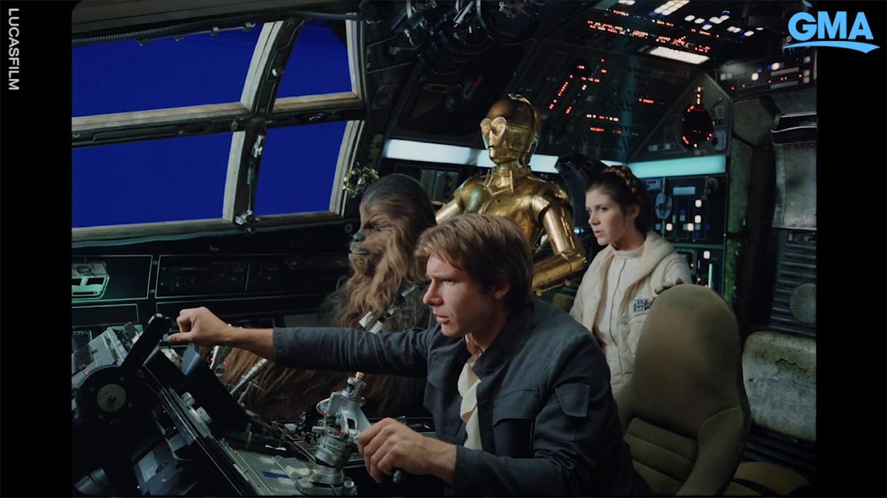 star wars emipre strikes back kamera arkası görüntüleri, han solo, princess leia, chewbacca, c-3po