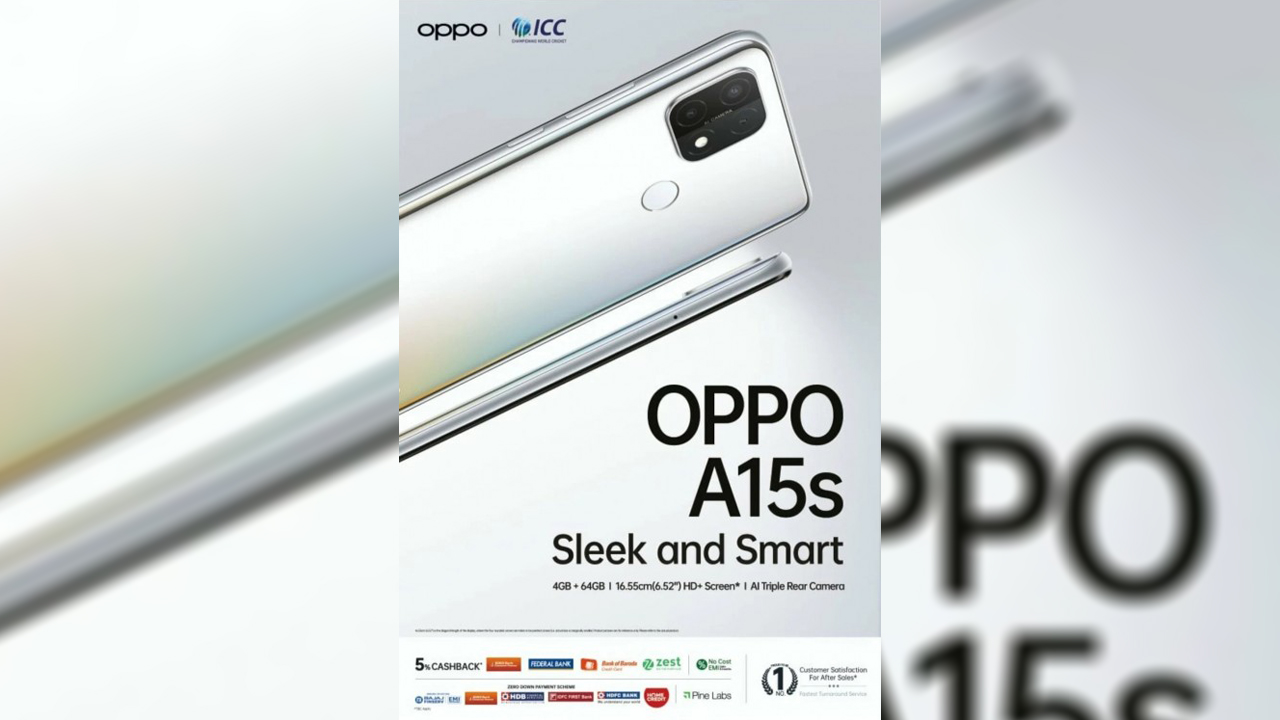 OPPO A15s tanıtım afişi