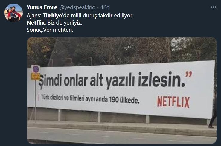 netflix afiş tweet