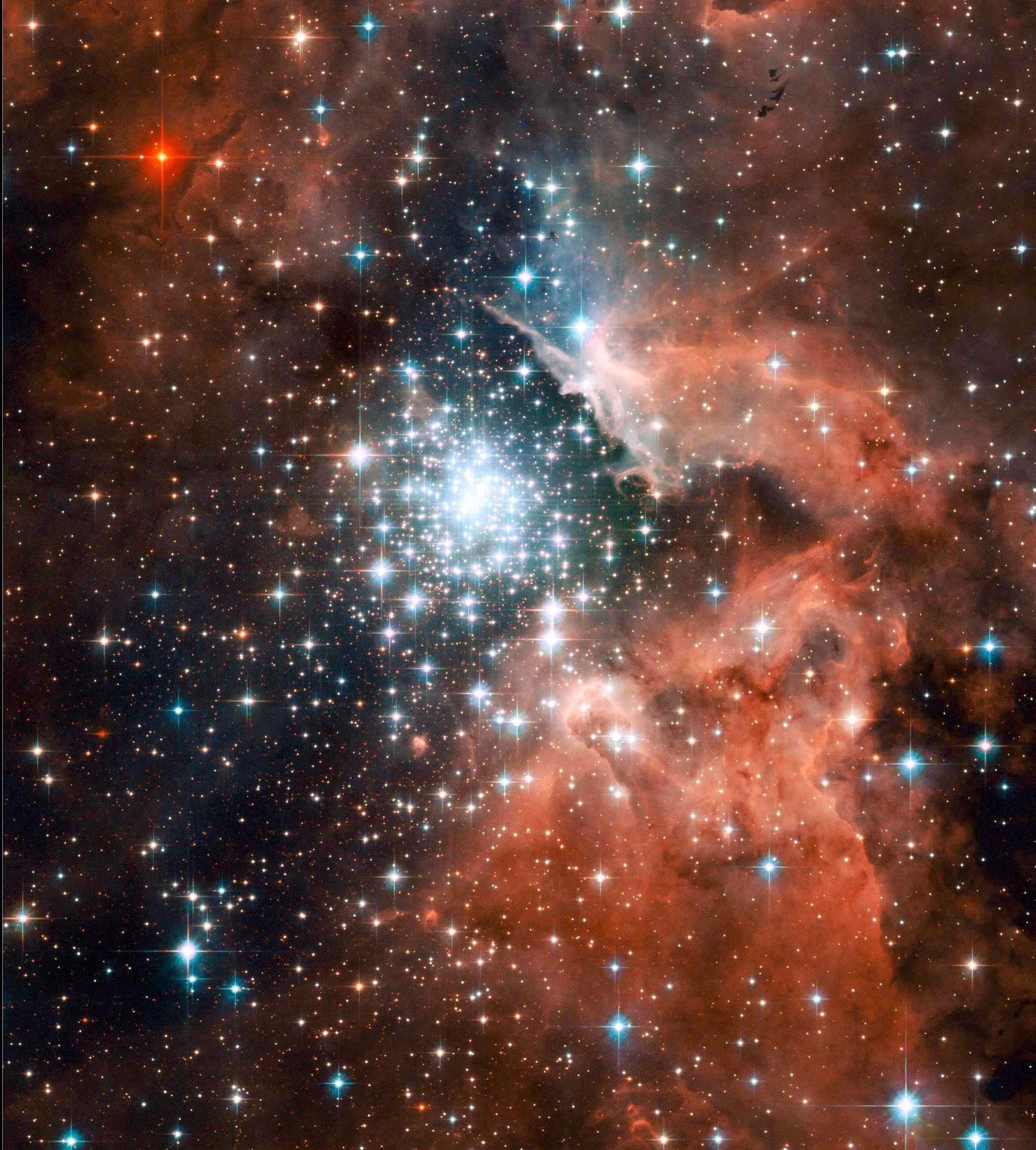 NASA NGC 3603 Takımyıldızı