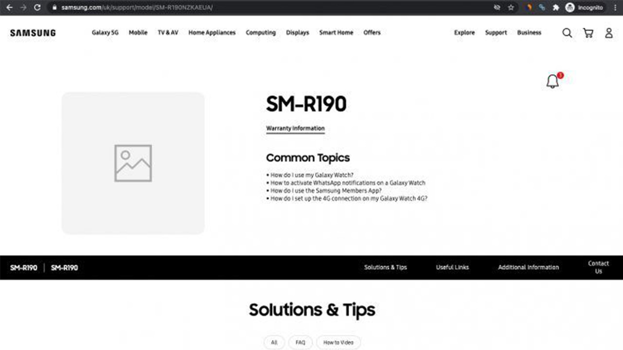 Samsung Galaxy Buds Pro destek sayfası