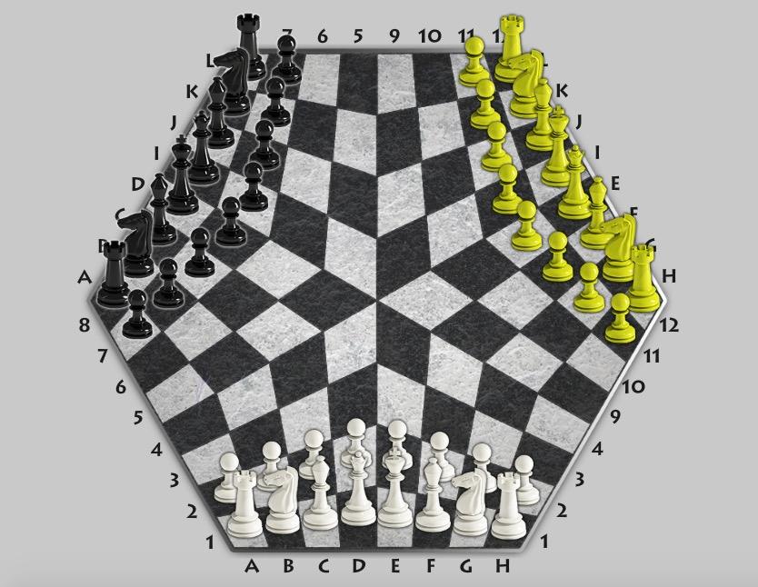 Beyin Yakan 3 Kişilik Satranç Oyunu