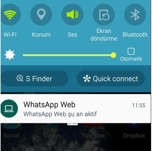 """Web WhatsApp şu anda aktif"" Nasıl Kapatabilirim?"