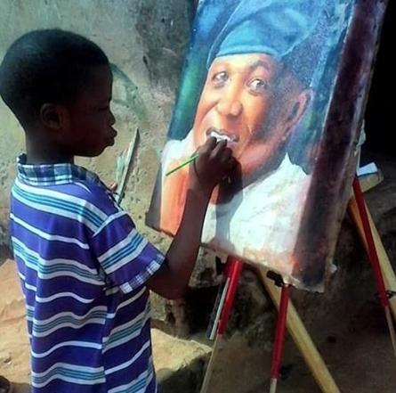 11 Yaşındaki Aşırı Yetenekli Nijeryalı Ressam