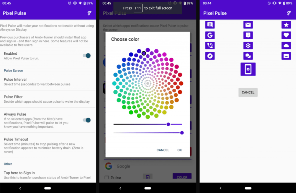 Pixel 3 ve OnePlus 6T'ye Bildirim Işığı Ekleyen Bir Uygulama