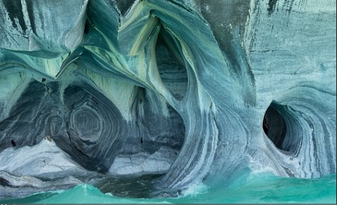 Mermer mağaralar Şili