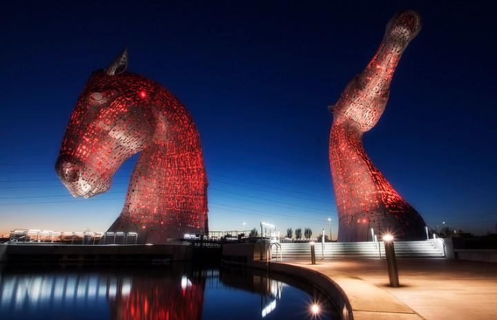 İskoçya at heykelleri