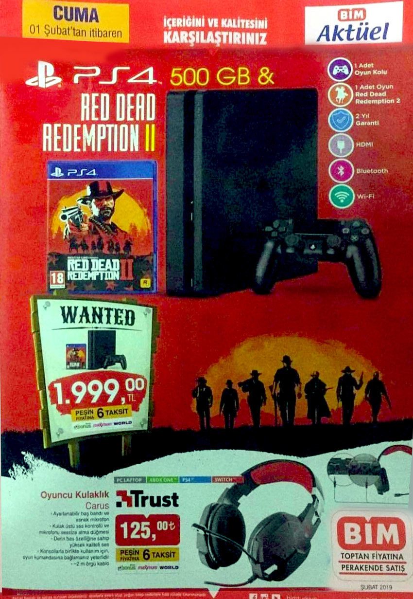 BİM, Uygun Fiyata PlayStation 4 Satacak