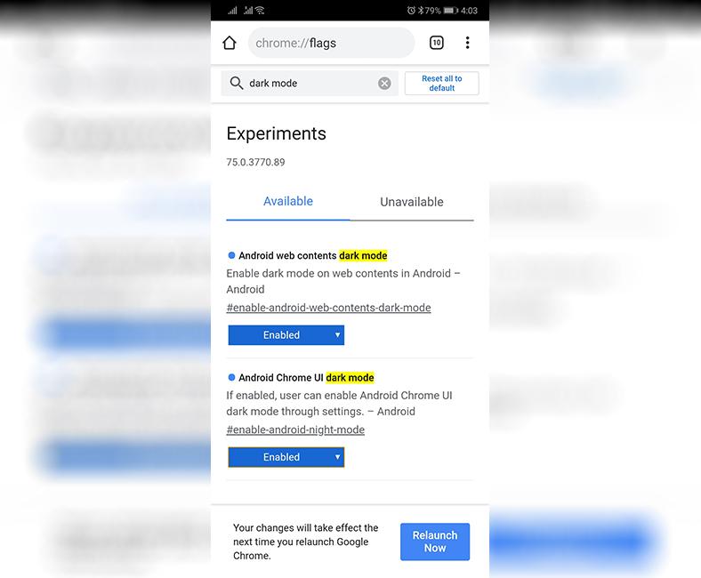 Chrome'da Karanlık Mod Nasıl Aktifleştirilir? (Android)