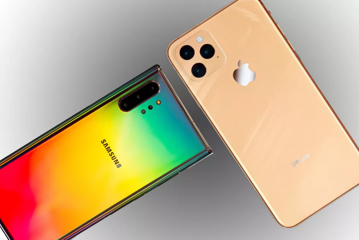 samsung galaxy note10 apple iphone 11