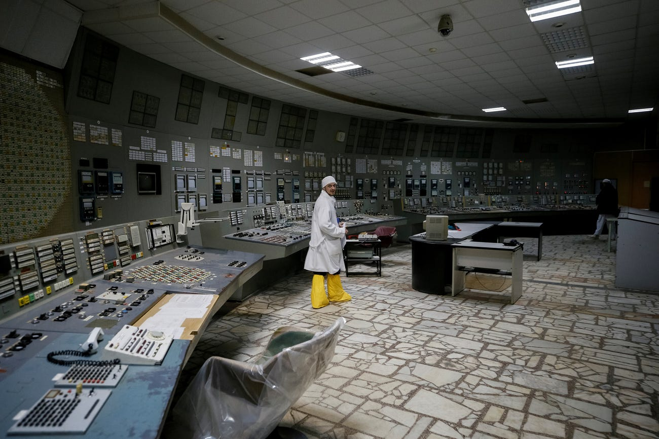 Çernobil 4 numaralı reaktörün kontrol odası