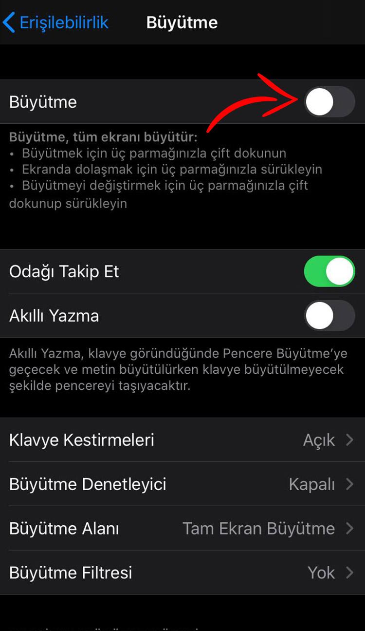iphone siyah beyaz yapma 3
