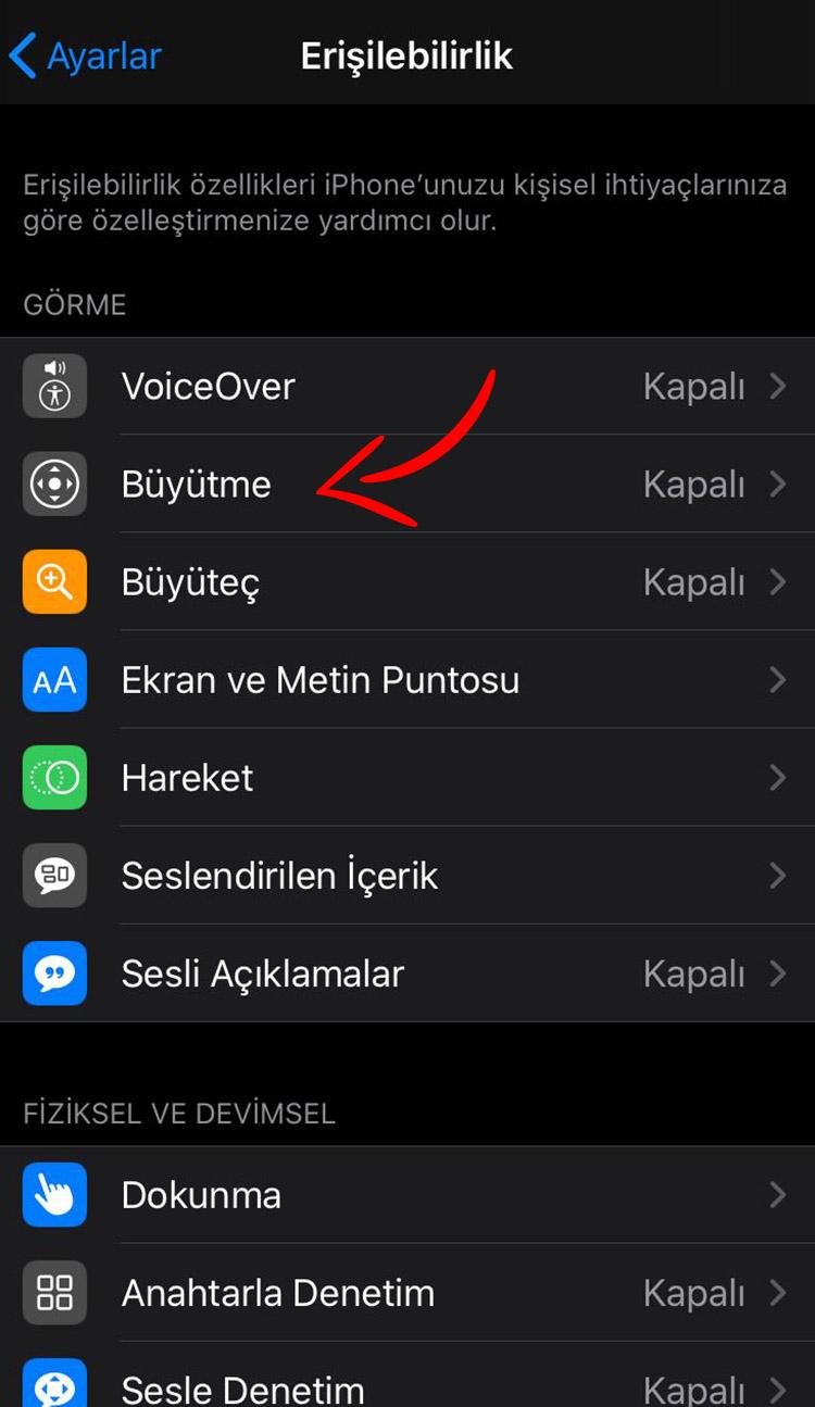 iphone siyah beyaz yapma 2