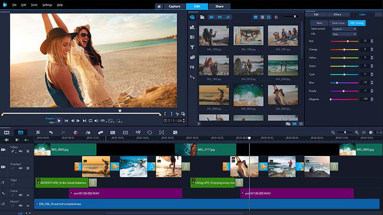 corel video editing program