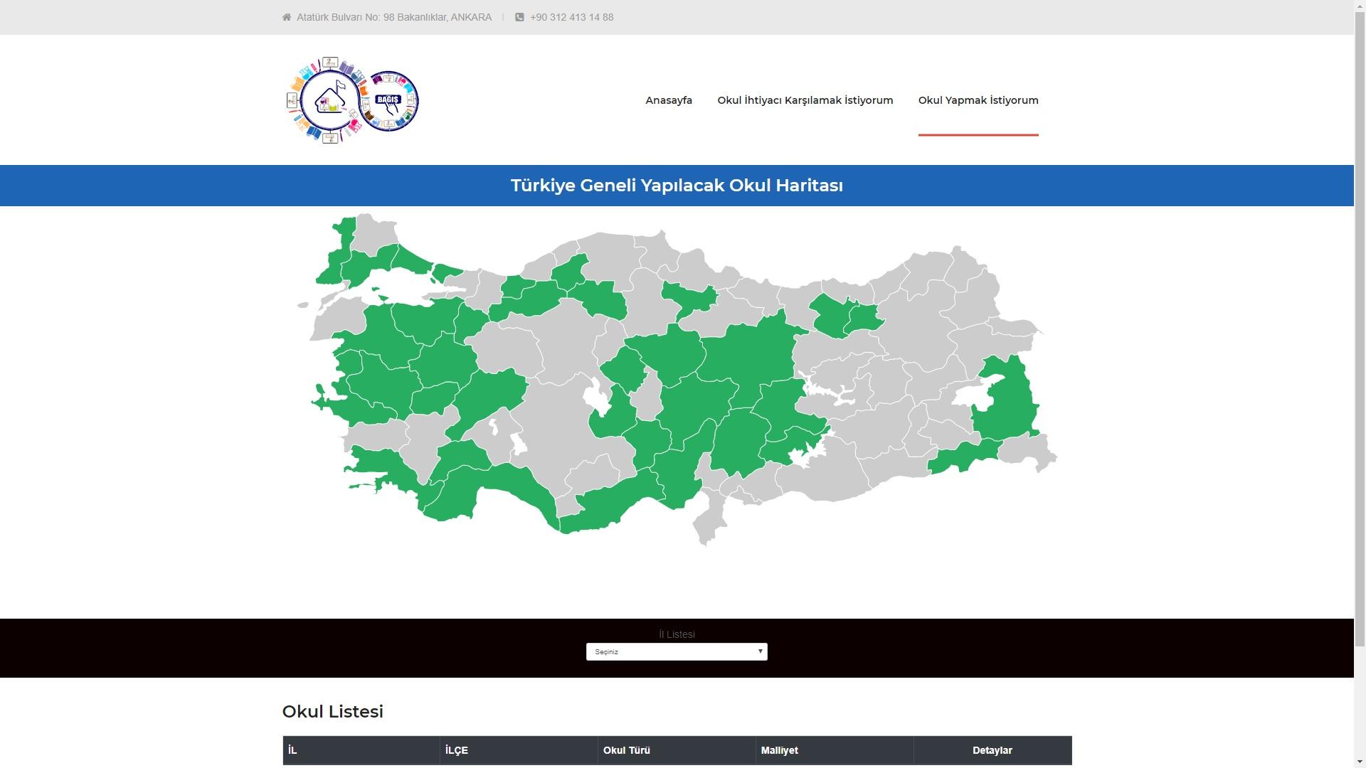 MEB okul haritası