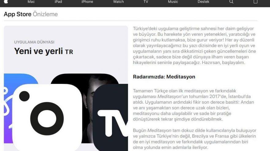 app store yeni ve yerli tr