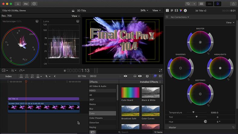 final cut video editing program
