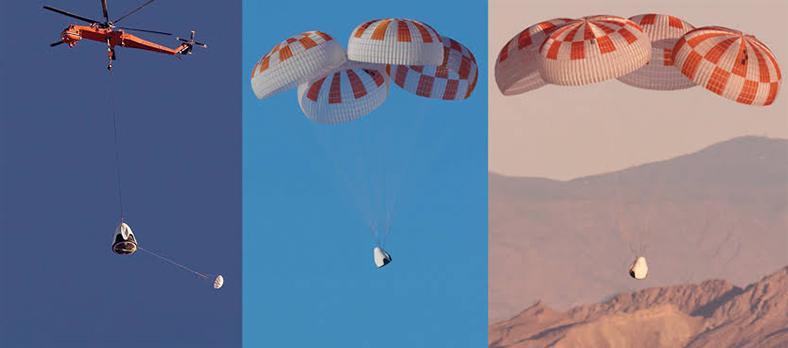 spacex paraşüt deneme