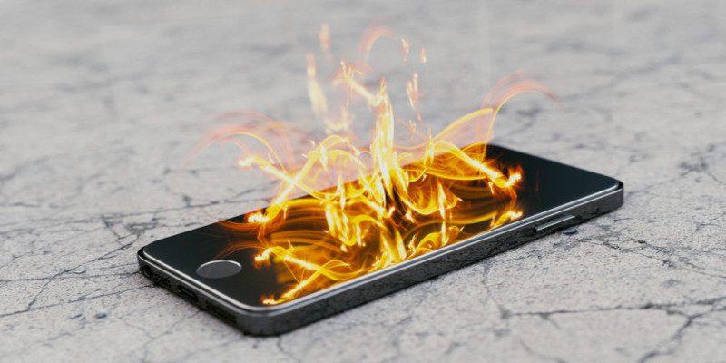 telefon yanma