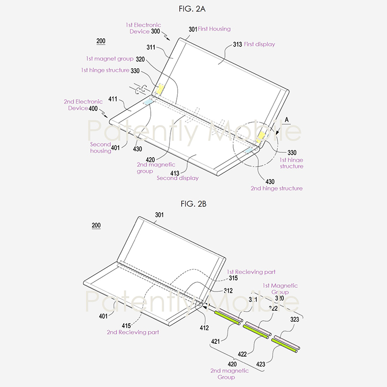 samsung katlanabilir telefon patent