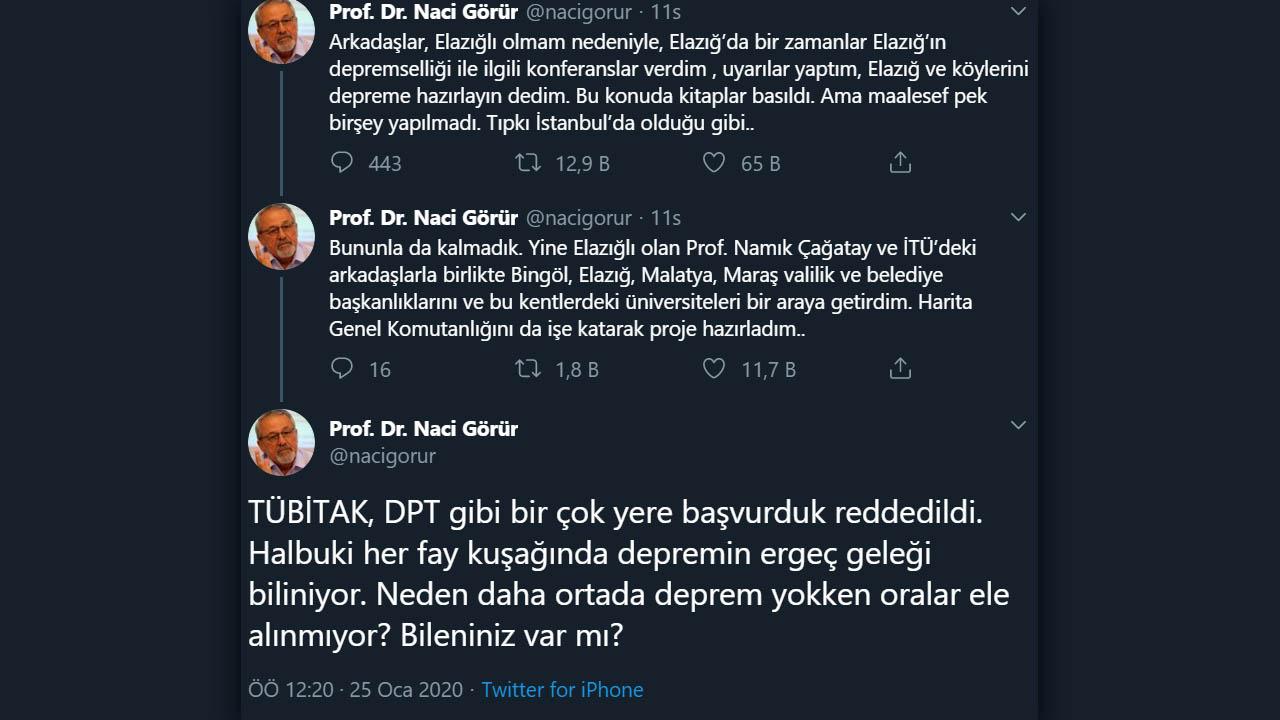 prof. dr. naci görür elazığ depremi