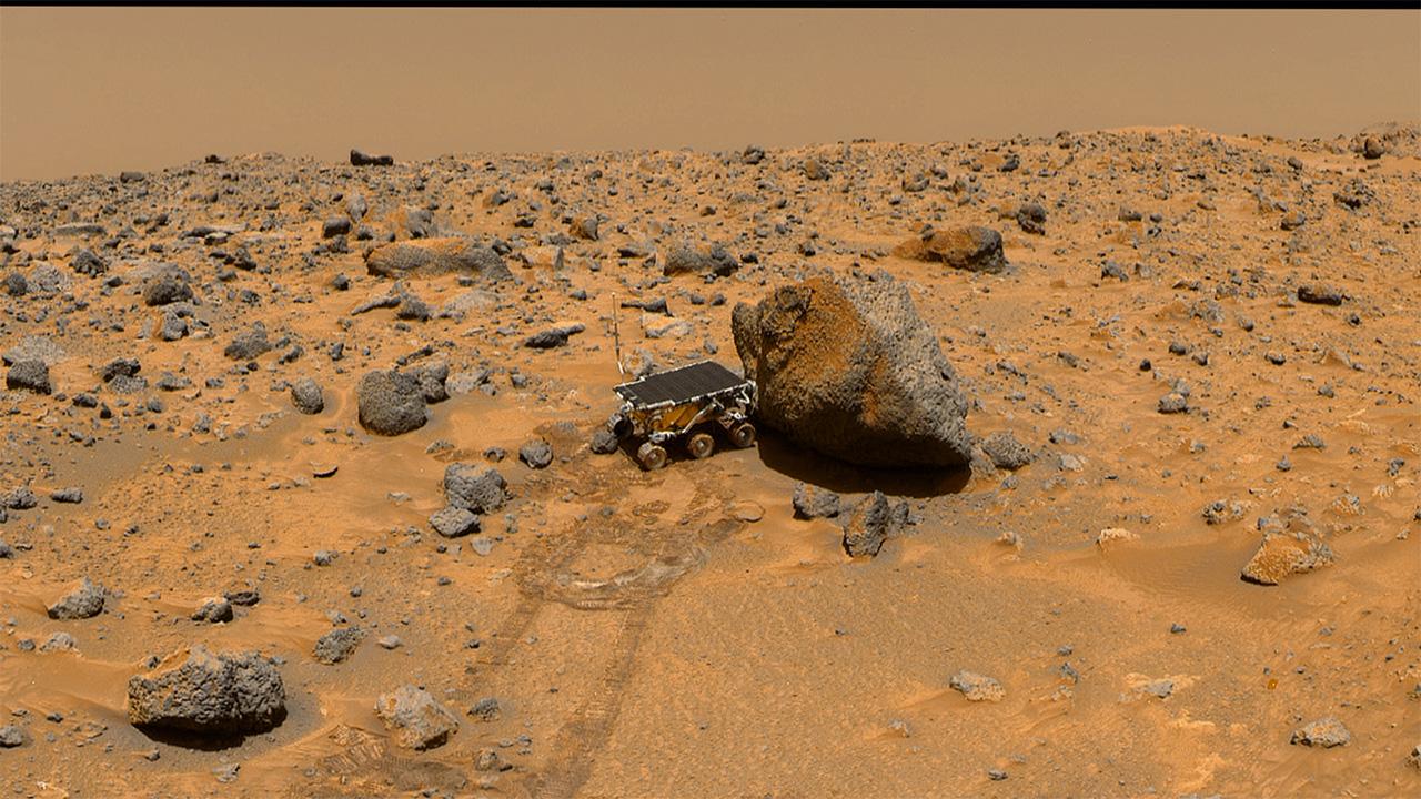 """равнина Марса, марсоход """"Соджорнер"""""""