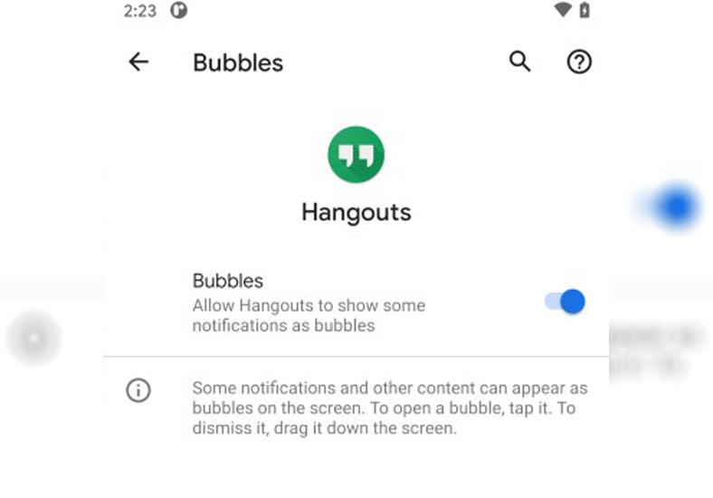 Android 11 sohbet baloncukları