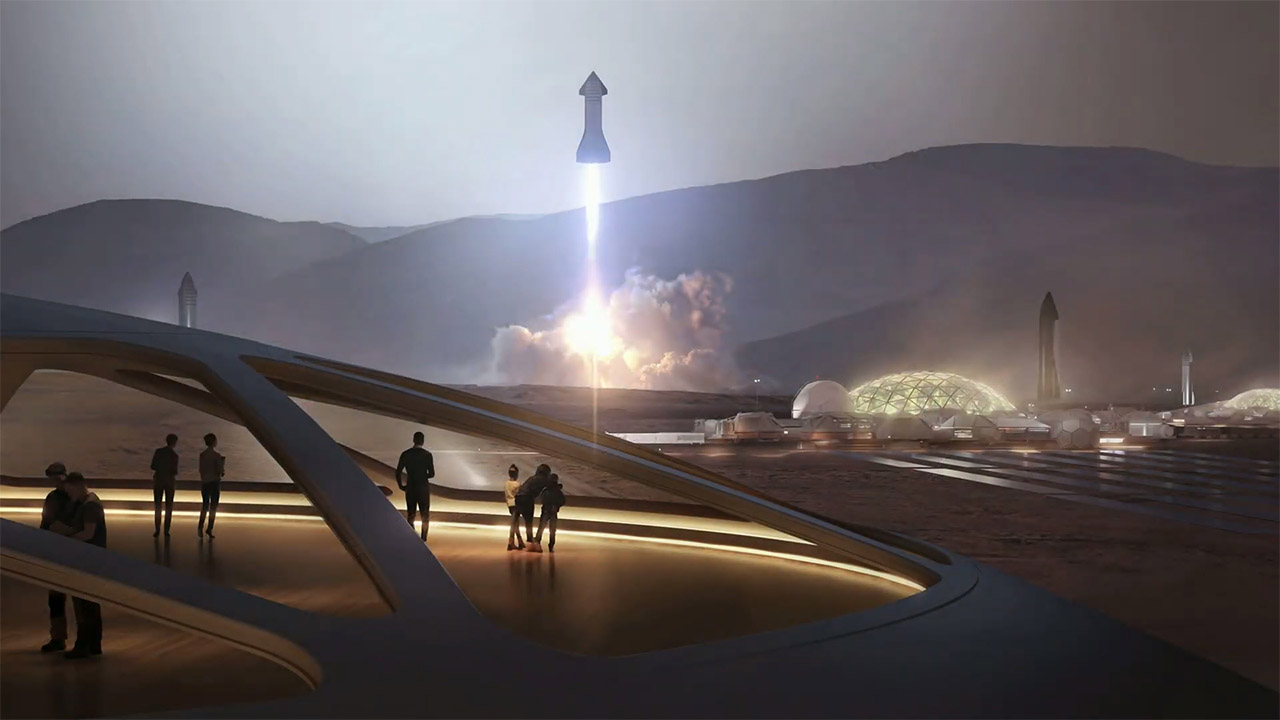 spacex starship mars