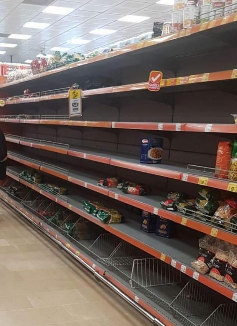 market rafları boşaldı