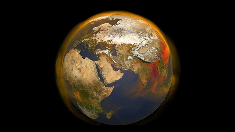 dünyadaki metanın 3 boyutlu haritası