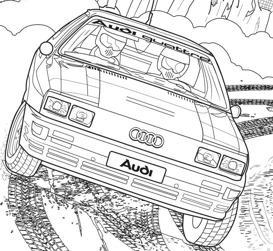 Audi Evde Cani Sikilanlar Icin Boyama Kitabi Yayinladi