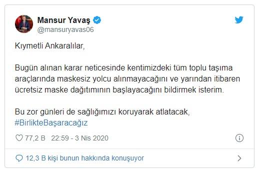 İstanbul ve Ankara'da Ücretsiz Maske Dağıtılacak