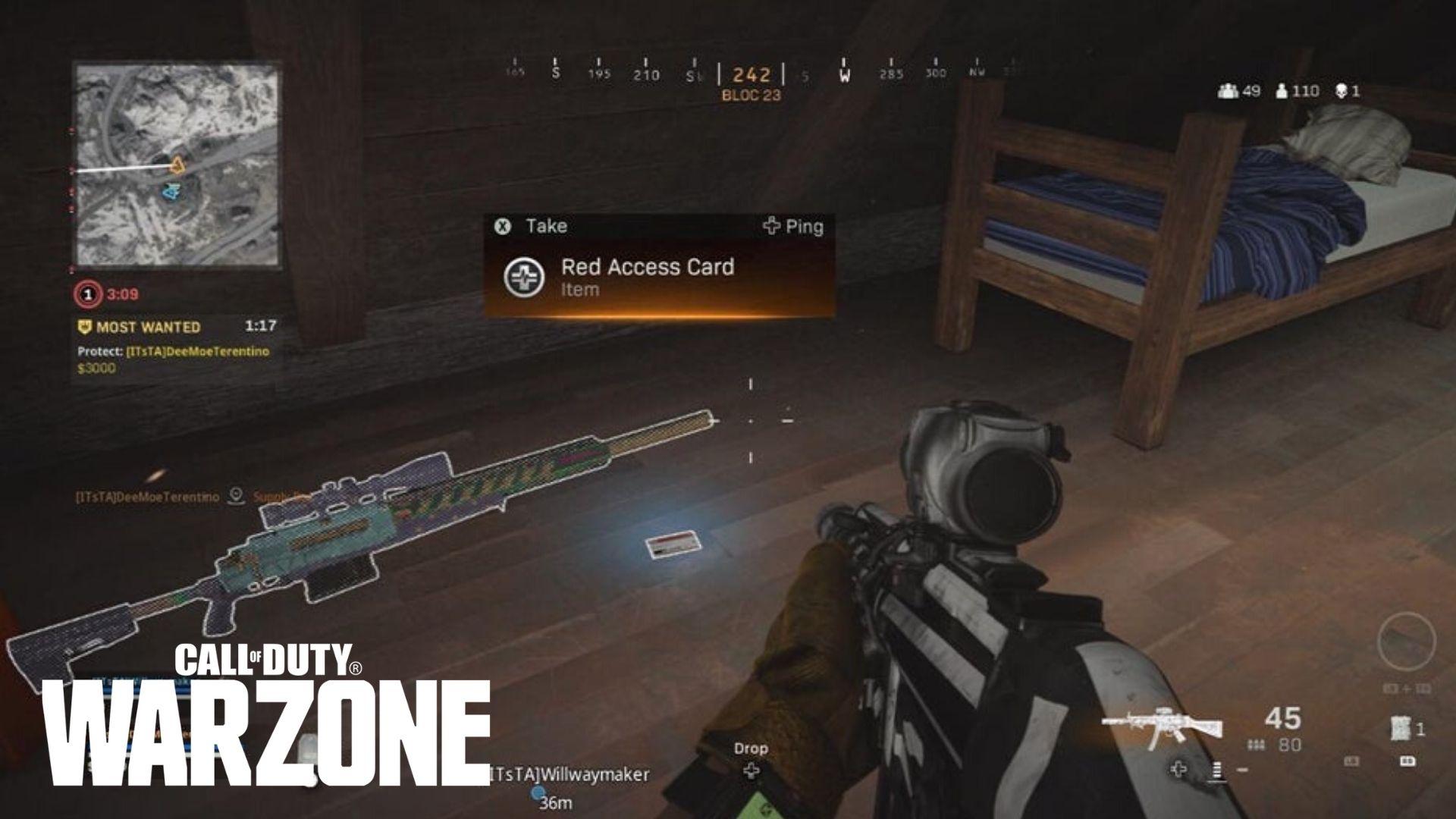 CoD: Warzone keycard