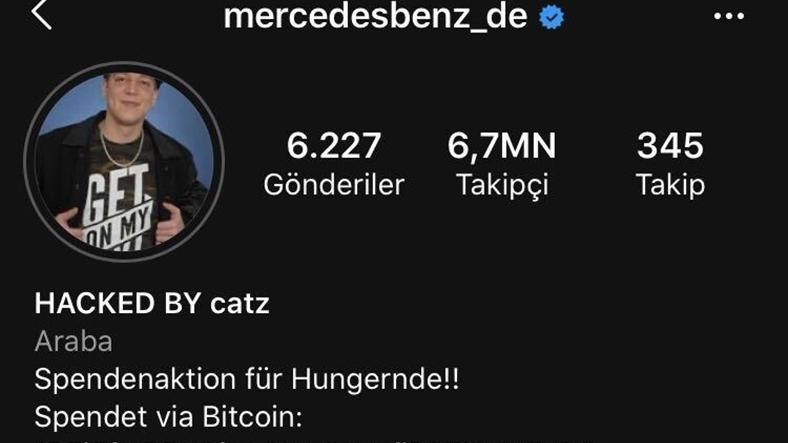 mercedes benz instagram hack