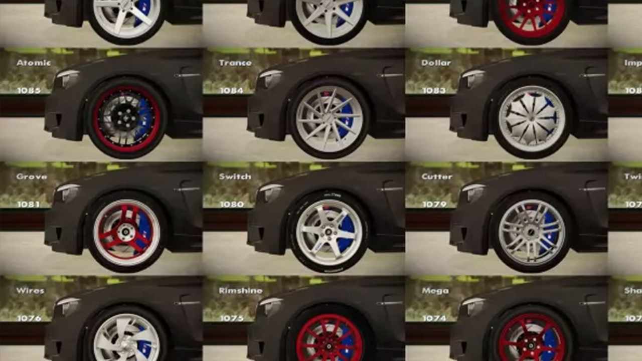 Wheels Pack GTA SA