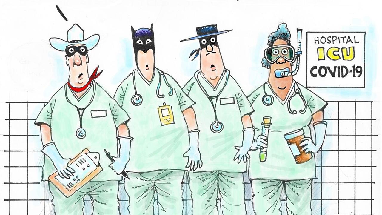 Sağlık Çalışanları Karikatür