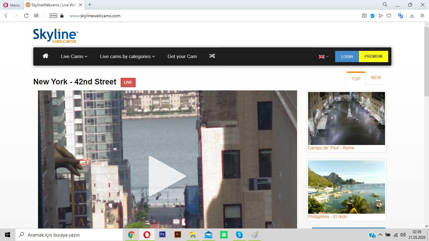 skylinewebcams.com ile sokakları izle