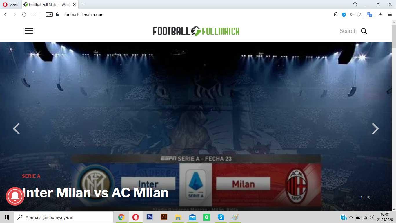 footballfullmatch.com futbol tutkunlarının seveceği adres