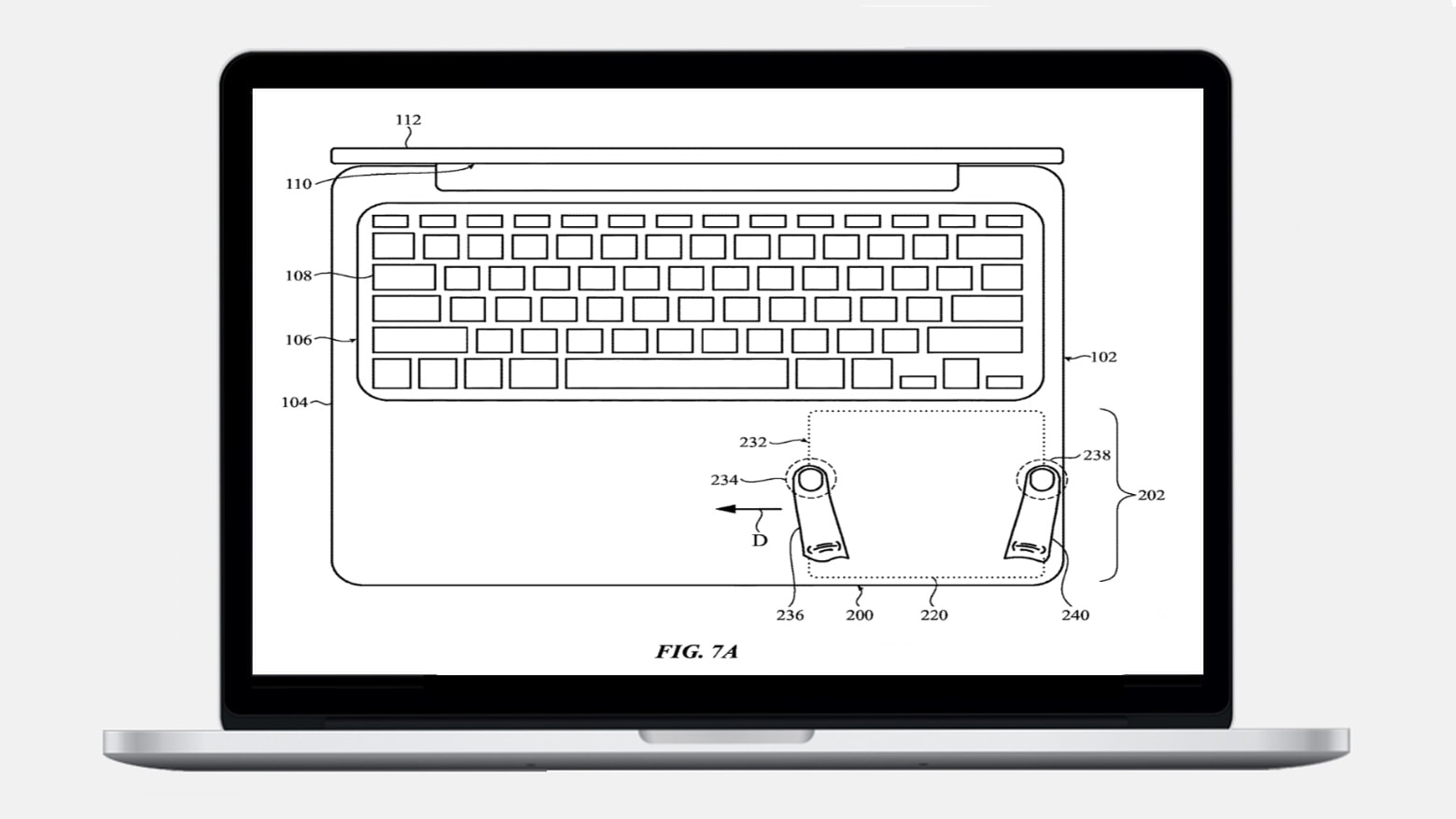 apple trackpad patent