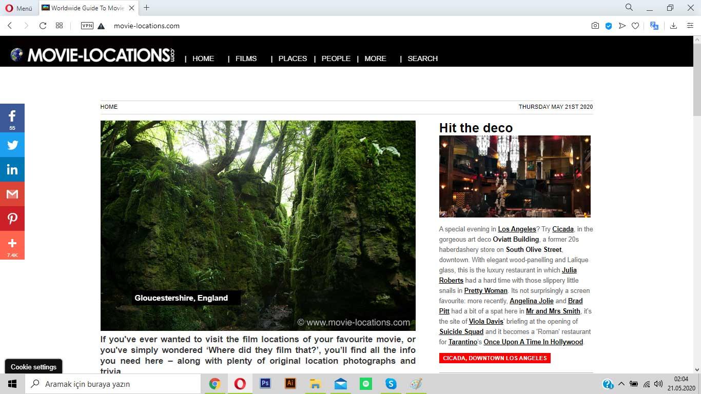 movie-locations.com ile sahnelerin çekildiği mekanları görebilirsin