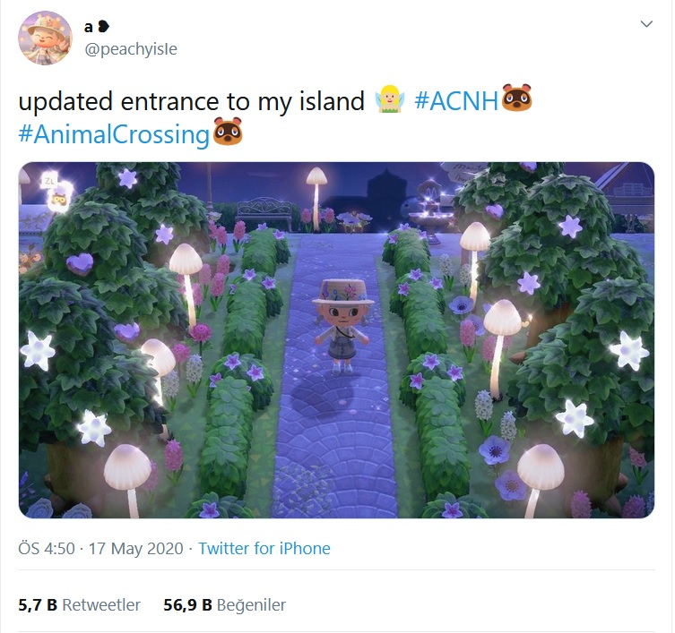 animal crossing: new horizons hacklenmiş ağaçlar